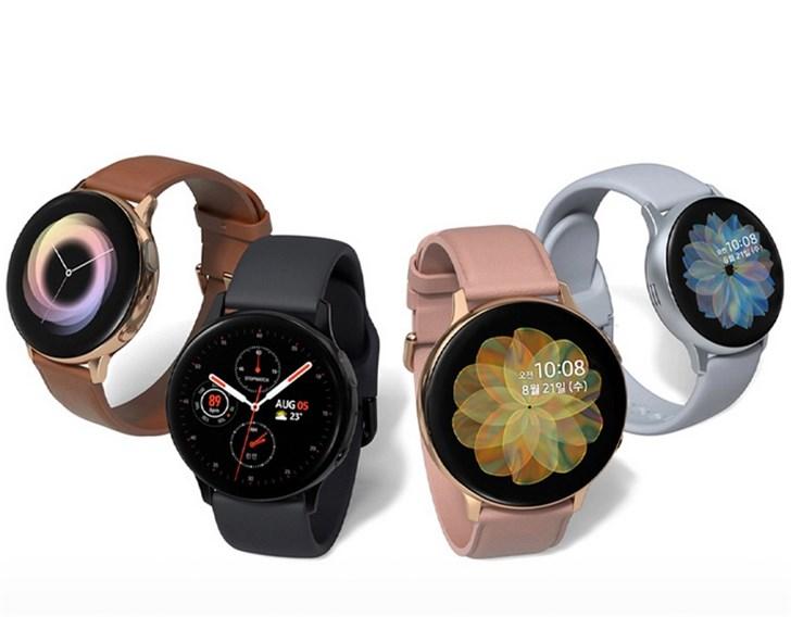 三星 Galaxy Watch Active2开启预售:触摸旋转表圈,1899元起