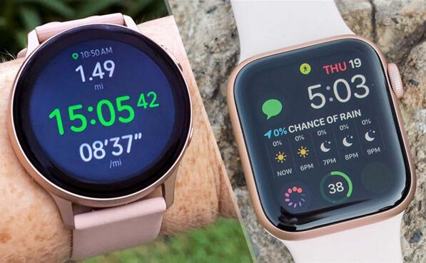 Apple Watch Series 5 对比 Galaxy WatchActive 2:王者之争你选谁?