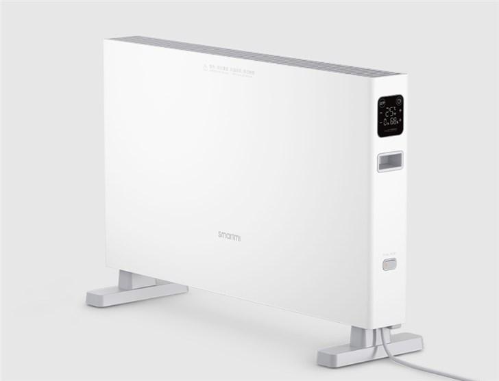 智米电暖器智能版1S发布:大屏触控,16-28℃精准恒温