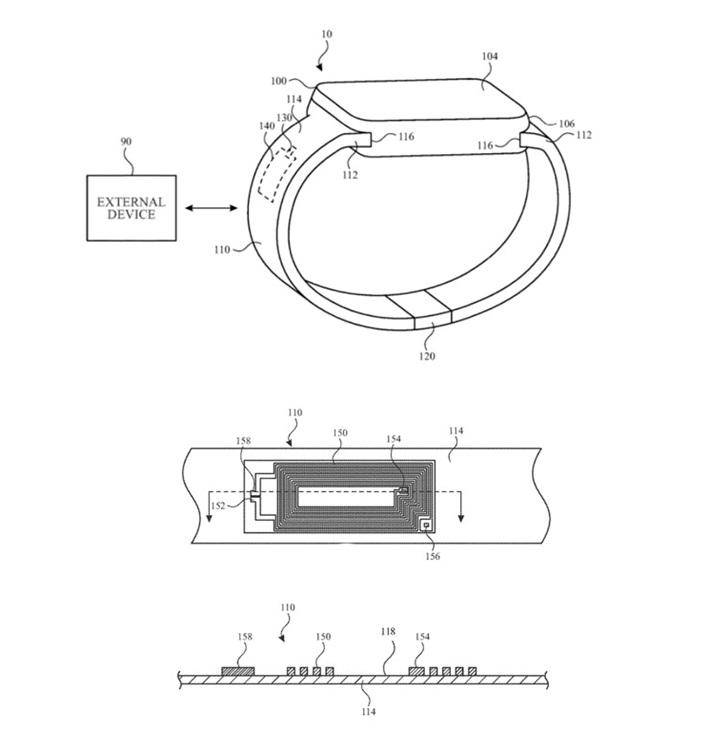 苹果Apple Watch表带将集成无线天线