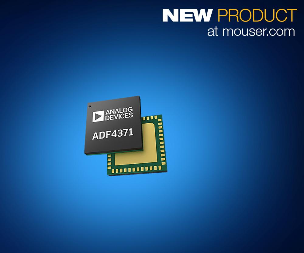 Analog Devices ADF437x合成器在贸泽开售