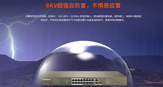端口优先、千兆光电上联,腾达16口PoE系列交换机升级来袭!
