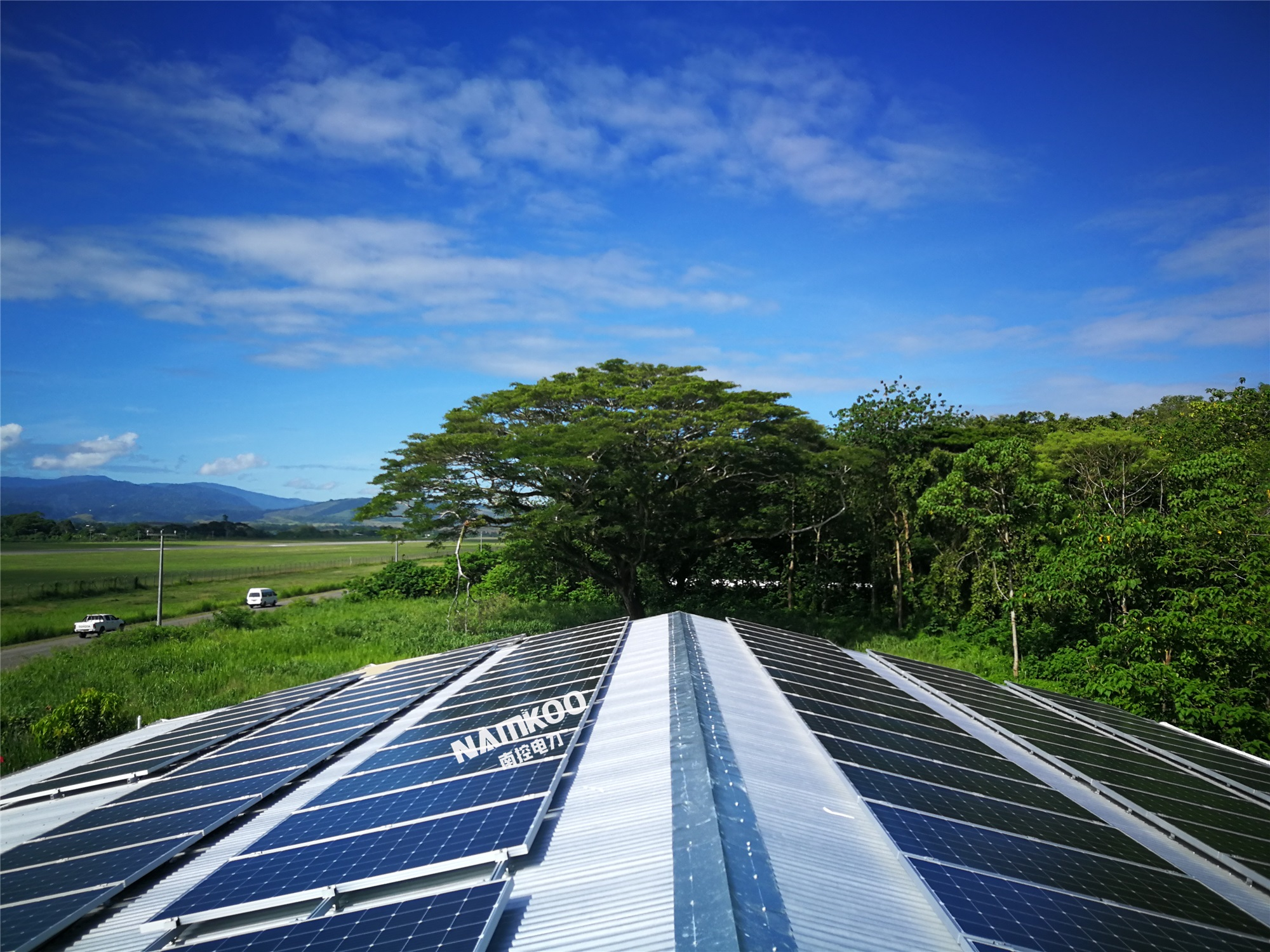 所罗门群岛又一项目72KW储能光伏系统即将投产使用