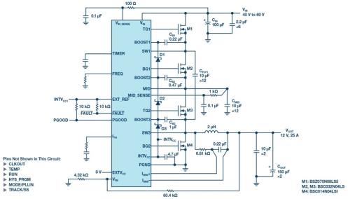 混合式转换器简化数据中心和电信系统的48V/54V降压转换