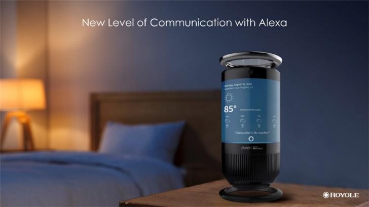 CES 2020:柔宇推出智能音箱,具有环绕式触摸屏