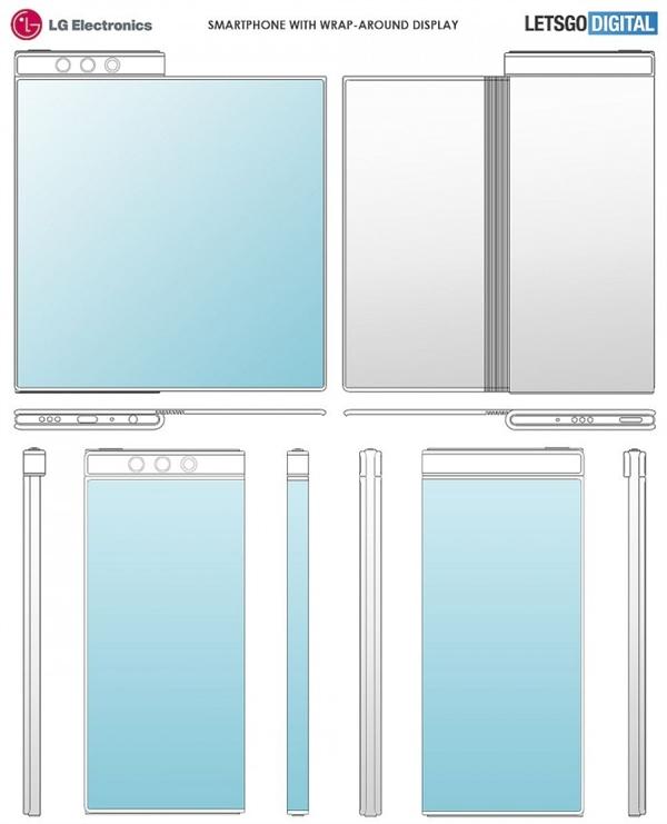 LG曝光全新手机专利:这折叠屏正面反面都堪称完美