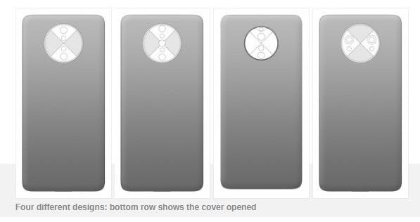 一加设计专利曝光:隐藏式摄像头带有旋转盖