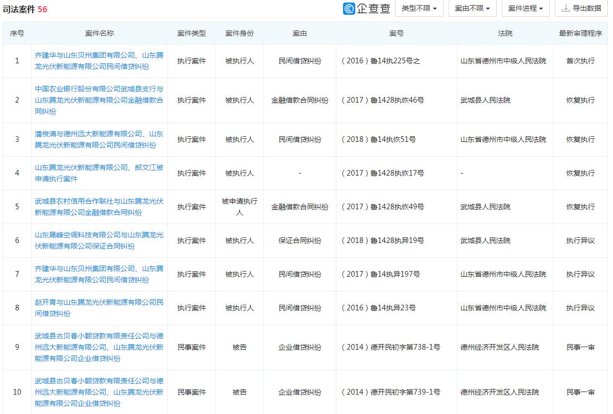 资产拍卖价981万元 山东腾龙光伏新能源有限公司宣布破产