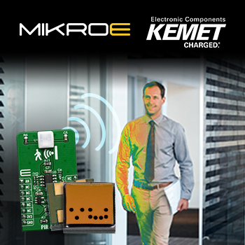 贸泽开售搭载KEMET 热释电红外传感器的Mikroe PIR Click board