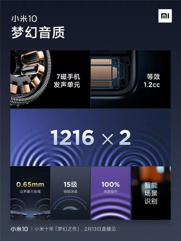 小米10/Pro手机官方爆料大汇总