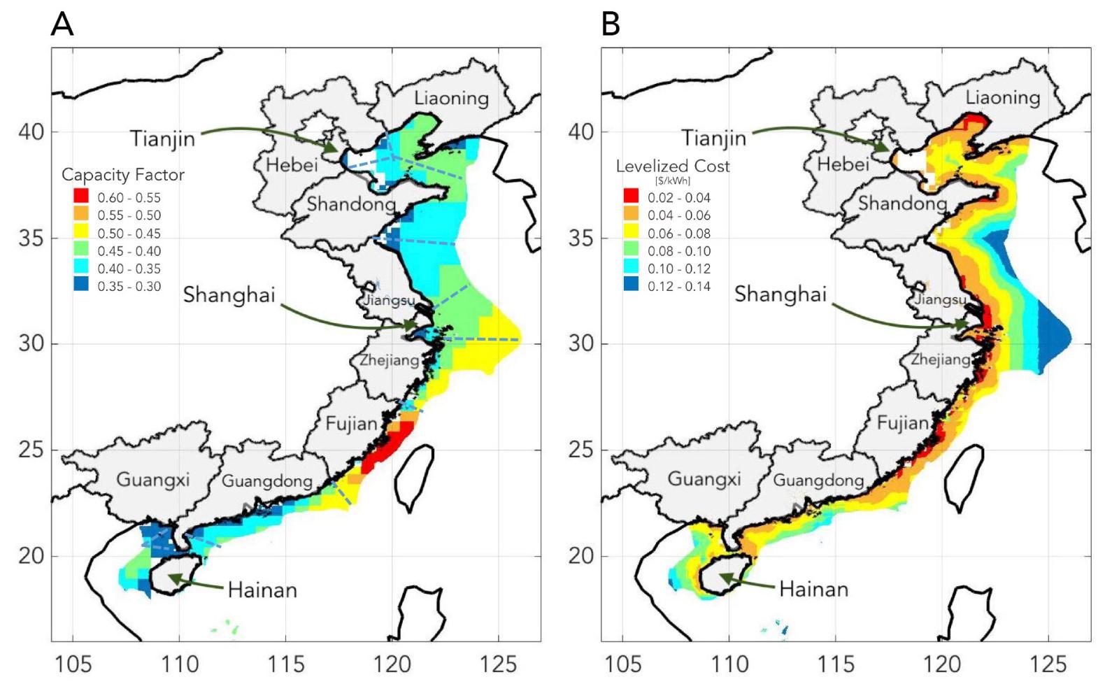 研究發現海上風力發電場可以為中國沿海地區提供能源