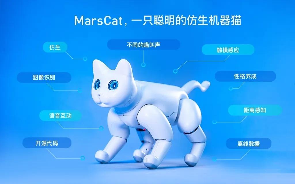 世界首款AI仿生机械猫 —— MarsCat 火星猫