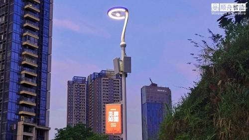 """顺舟CBOX云盒智能网关,助力首根""""5G综合灯杆""""顺利落地"""