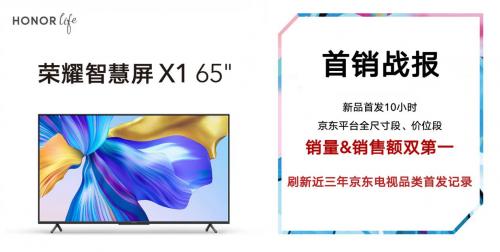 京东618百亿补贴唯一大屏 荣耀智慧屏X1仅1699元