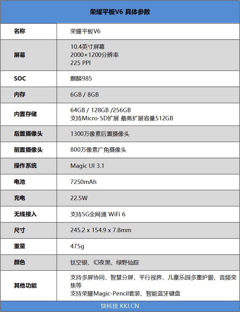 荣耀平板V6评测 最强网络与旗舰配置双剑合璧
