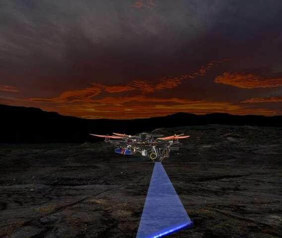 """香港大学设计出自动激光扫描""""猎手无人机"""",便于夜间寻找化石"""