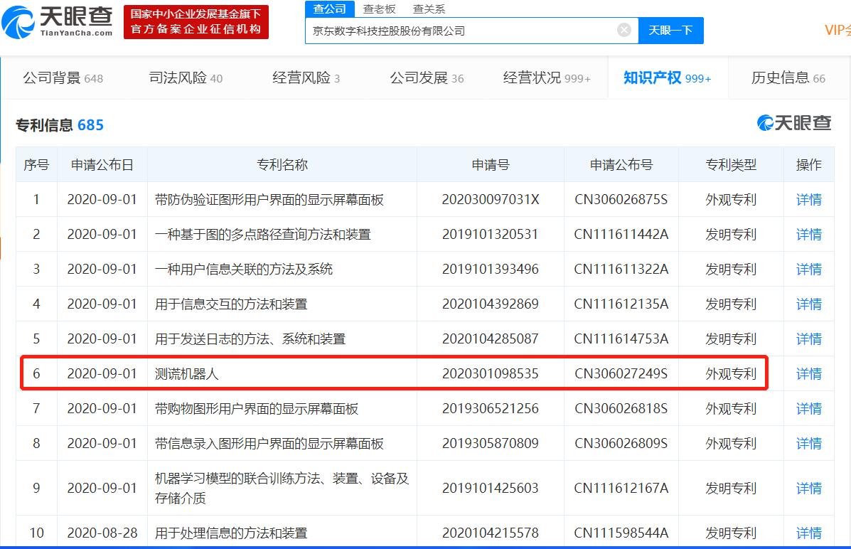 """京东数科新增""""测谎机器人""""专利"""