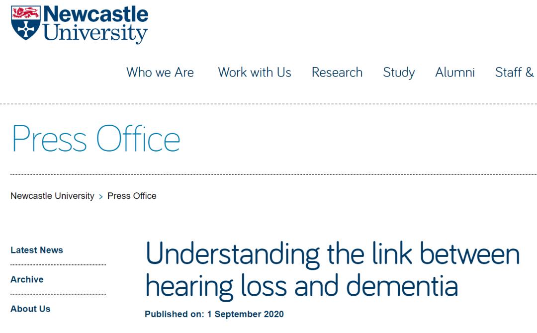听力损失与痴呆症之间有什么联系