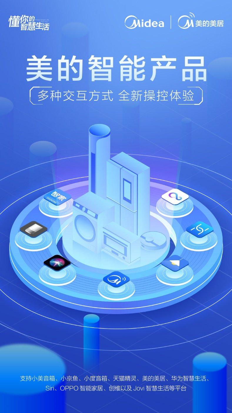 美的IoT全面开放生态,打造多元交互的全新操控体验