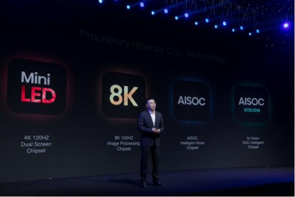 海信CES 2021:将量产行业首颗4K120Hz叠屏定制芯片