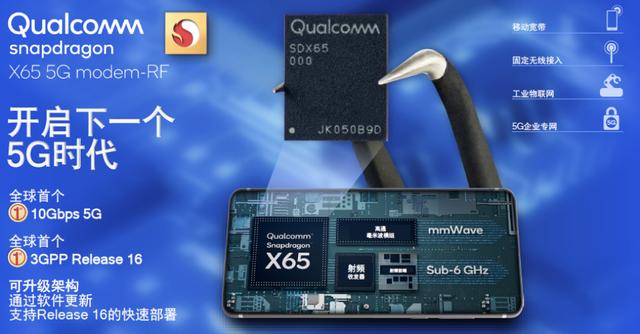 高通骁龙X65基带发布,全球首款4nm 5G