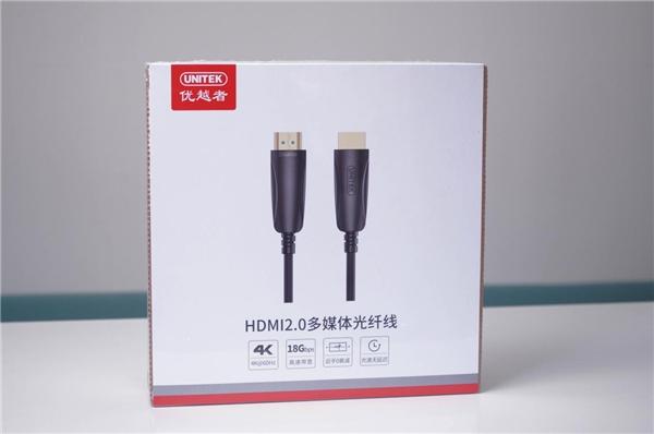 150米传输无损耗 优越者锌合金4K超清光纤HDMI线