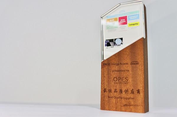 """沃沛斯获得ENGIE 集团下属公司EEA """"最佳品质供应商""""奖"""