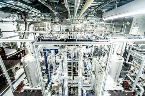 电装在安城制作所电动开发中心进行CO?循环设施的验证测试