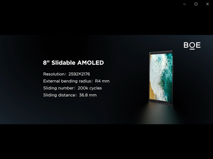 BOE(京东方)玻璃基Mini LED、OLED滑卷屏斩获国际显示周大奖