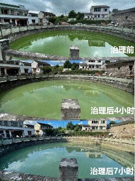 蔚绿突破性产品湖卫氧成功治理浙江余姚一处蓝藻水华