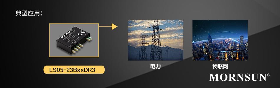 超高功率密度百搭电源、封装差异化选择—— LS05-23BxxDR3(灌封)系列