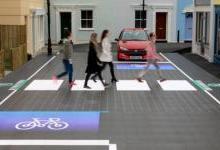 英国新型LED路面可提示司机和骑车者