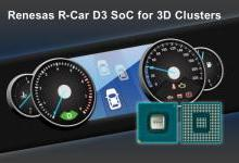 瑞萨电子将3D图形仪表盘普及至入门级车型
