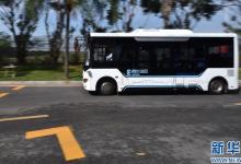 """""""无人驾驶""""时代临近 智能驾驶公交系统深圳首发试运行"""