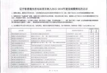 辽宁省公示纳入2015—2016年规模指标的光伏电站项目名单