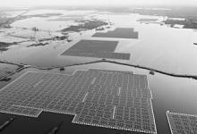 安徽采煤坍陷区建起光伏电站