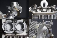 3D打印机和三种不同树脂材料造就保时捷356发动机模型