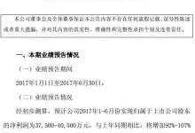 小康股份预计上半年净利3.75亿元至4.05亿元