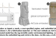 AirCode:一种将物理标签嵌入3D打印件的创新性方法