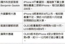 传富士康郑州厂试产iPhone 8,每天200部