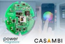 PI与Casambi Technologies联合推出全新智能照明参考设计