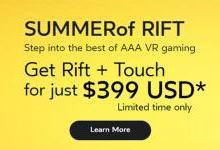 Oculus确认将延长VR头显设备夏日促销活动