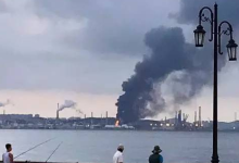 中石油分公司发生火灾 环境监测中