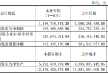 上海环境上半年营收近12亿元