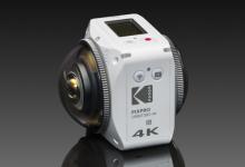 柯达推360°VR相机ORBIT360 4K