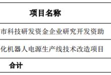 茂硕电源获得292.6万元政府补贴