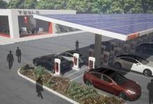 特斯拉新型超级充电站构想