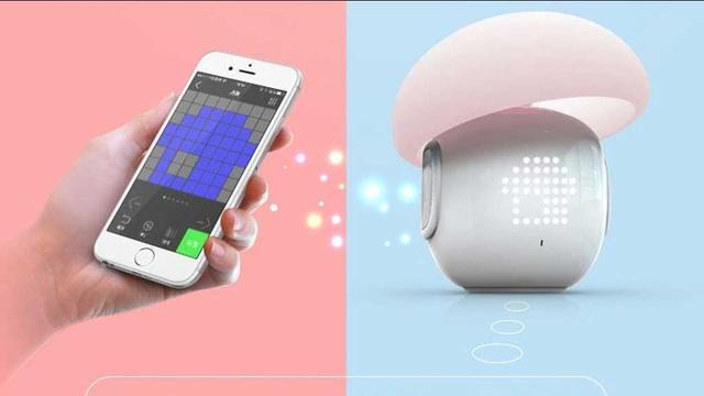 """这款智能LED灯不仅能显示情绪 还可以""""兼职""""扬声器和闹钟"""