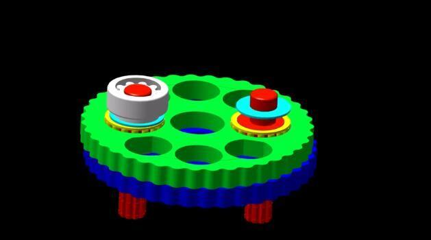 机器人核心部件RV减速机3D模拟动画