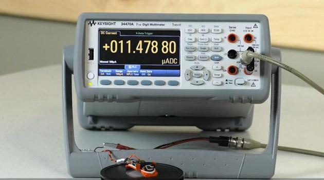 数字万用表34470测试物联网电池损耗
